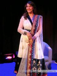 Arisha Georgette Embroidered Semi-Stitched Anarkali Suit - White