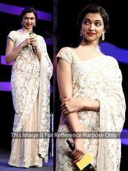 Arisha Georgette Embroidered Saree - Cream - 401