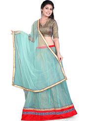 Styles Closet Designer Net & Silk Semi Stitched Lehenga Choli -Bnd-Hl1