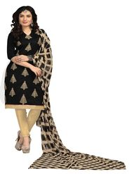 Khushali Fashion Chanderi Embroidered Unstitched Dress Material -BRCRN1007