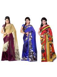 Combo of 3 Arisha Georgette Printed Saree -CMBS15