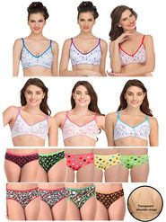 Pack of 16 Clovia Bra & Panty Set With Free Bra Strap
