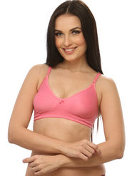 Clovia Blended Plain Bra - Reddish Pink - BR0185Q23