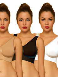 Set of 3 Clovia Blended Plain Bra