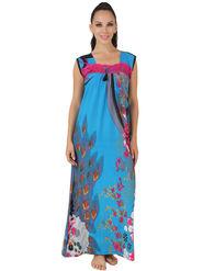 Fasense Shinker Cotton Floral Print Nightwear Long Nighty -DP148C1