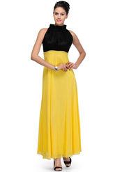 Arisha Viscose Solid Dress DRS1026_Ylw