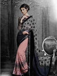 Viva N Diva Georgette & Net Embroidered Saree -Dramatic-5099