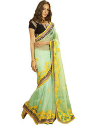 Zoom Fabrics Georgette Embroidered Saree -E7704