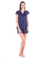 Pack of 5 Fasense Satin Nightwear - Navyblue