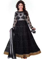 Fabfiza Embroidered Net Semi Stitched Anarkali Suit _FB-6559
