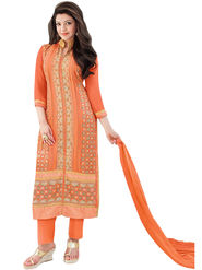 Fabfiza Embroidered Georgette Semi Stitched Straight Suit_FBEK2-62003