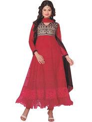 Fabfiza Embroidered Net & Brasso Semi Stitched Anarkali Suit_FBKW-20002