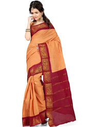 Nanda Silk Mills Cotton Printed Saree -Femina4042