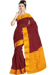 Nanda Silk Mills Embroidered Cotton Saree_FEMINA4046