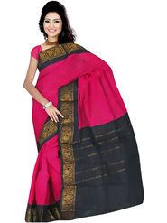 Nanda Silk Mills Embroidered Cotton Saree_FEMINA4048