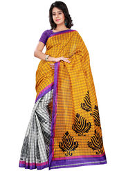 Florence Bhagalpuri silk Printed  Sarees FL-10744-OCT