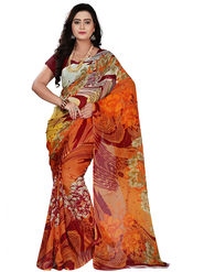 Florence Faux Georgette  Printed  Sarees FL-11003