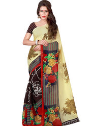 Florence Printed Faux Georgette Sarees FL-11733
