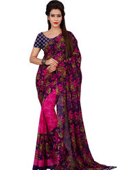 Florence Printed Faux Georgette Sarees FL-11738