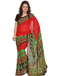 Florence Faux Georgette  Printed  Sarees FL-3192-B