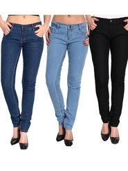 Pack of 3 Fizzaro Slim Fit Stretchable Denim For Womens -fs01