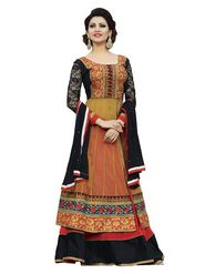 Florence Georgette  Embroidered Dress Material - Multicolour - SB-1977