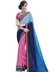 Bahubali Georgette and Silk jacquard Embroidery Saree -GA20016