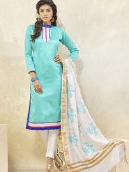 Viva N Diva Banglori Patch Work Unstitched Dress Material Gazee-8009