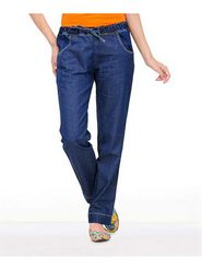 Yepme Cotton Polyester Solid Ladies Jeans  - Dark Blue