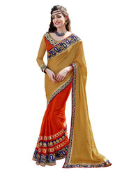 Branded Silk Jacquard Printed Saree -HT70113