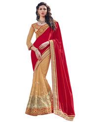 Branded Satin Chiffon Printed Saree -HT70121