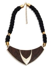 Hedoneesta Bermuda Necklace - Brown & Black - HDN-14