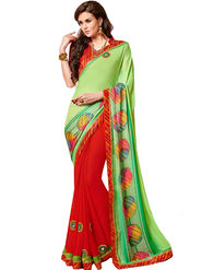 Indian Women Bandhani Print Chiffon & Georgette Saree -Ic11207