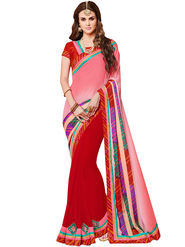 Indian Women Bandhani Print Crape & Georgette Saree -Ic11231
