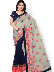 Indian Women Printed Jaquard  Saree -ic22