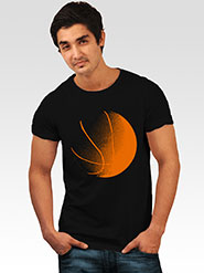 INCYNK Printed Round Neck Half Sleeves T Shirt for Men - Black_MHT105_BLACK_1