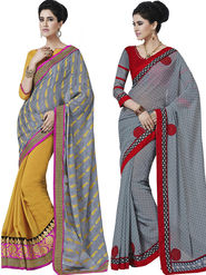 Pack of 2 Bahubali Embroidered Sarees - GAL806