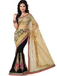 Ishin Net Embroidered Saree - Multicolour_ISHIN-1667