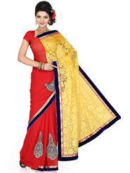 Ishin Brasso Embroidered Saree - Multicolour_ISHIN-1729