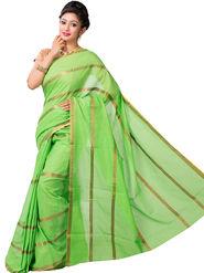 Ishin Cotton Printed Saree - Green - SNGM-2436
