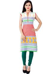 Arisha Cotton Printed Kurti KRT6033_Rd