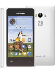 Kestrel KM-401 - White 4-inch Android Kitkat With 5 MP Camera,3G Mobile