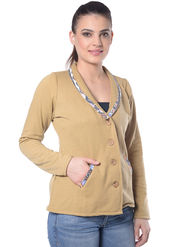 Lavennder Fone Solid Full Sleeve Women Jacket - LJ-24043