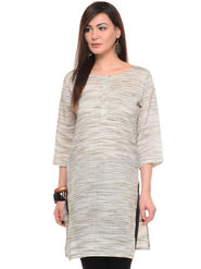 Lavennder Khadi Striped Kurti -LK-62158