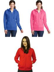 Combo of 3 Lavennder Solid Fleece Red Blue & Pink Hooded Sweatshirt -LSS-1053