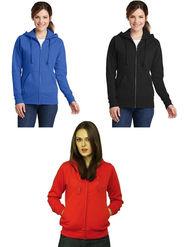 Combo of 3 Lavennder Solid Fleece Blue Black & Red Hooded Sweatshirt -LSS-1054