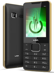 Lava KKT Uno+ Dual Sim Phone - Black & Gold