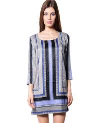 Meira Printed Ploy Satin Women's Dress - Multicolour _ MEWT-1183-Multi