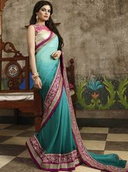 Zoom Fabrics Chiffon Embroidered Saree -N1616