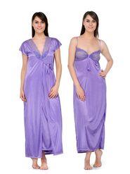 Set of 2 Satin Plain Nightwear-ONW_1_3002_LAVENDER